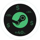 Sell skins and earn money to buy games on Steam
