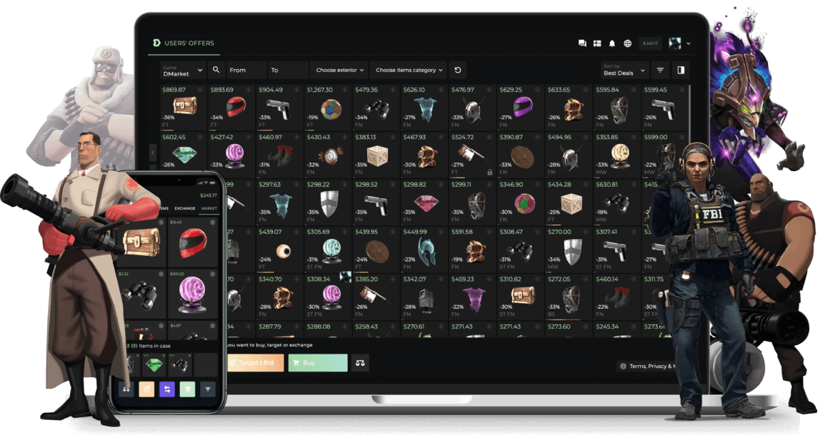 Trade on our marketplace